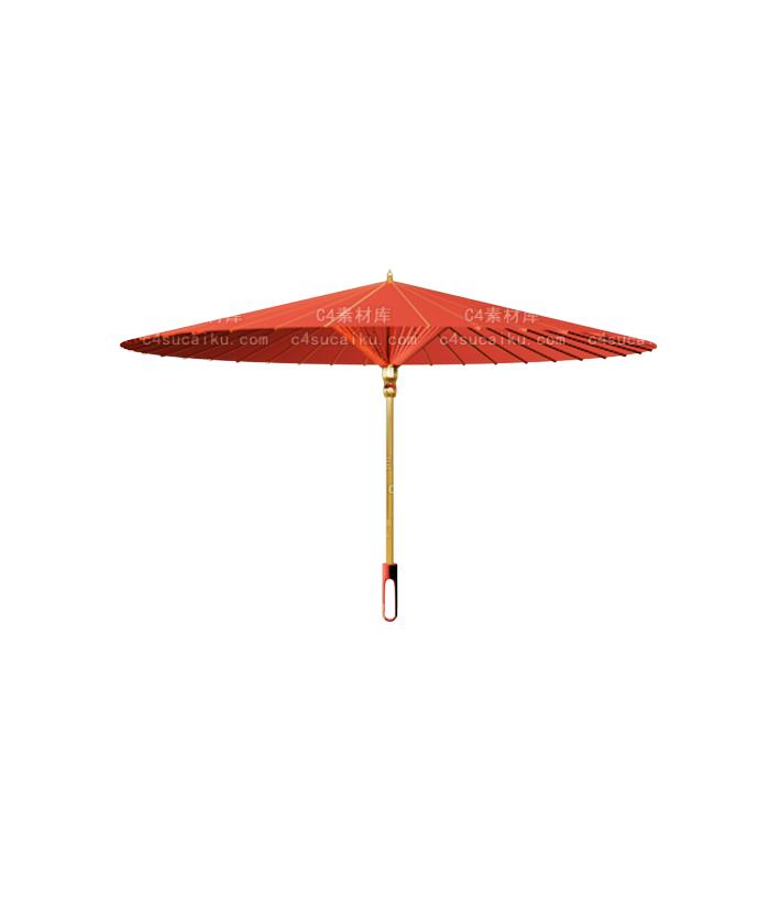 默认渲染器纸伞雨伞模型