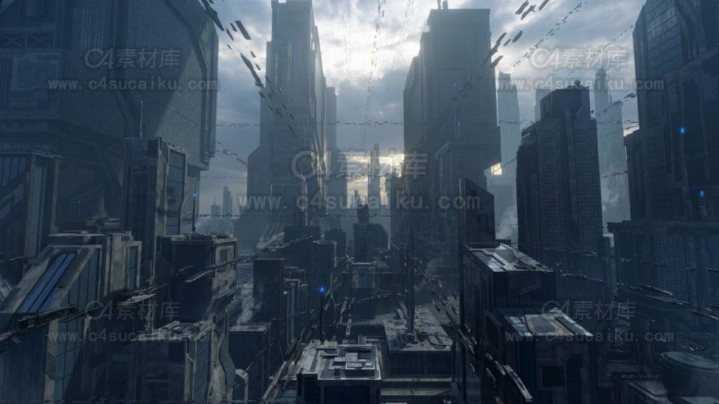 kitbash3d科幻城市模型