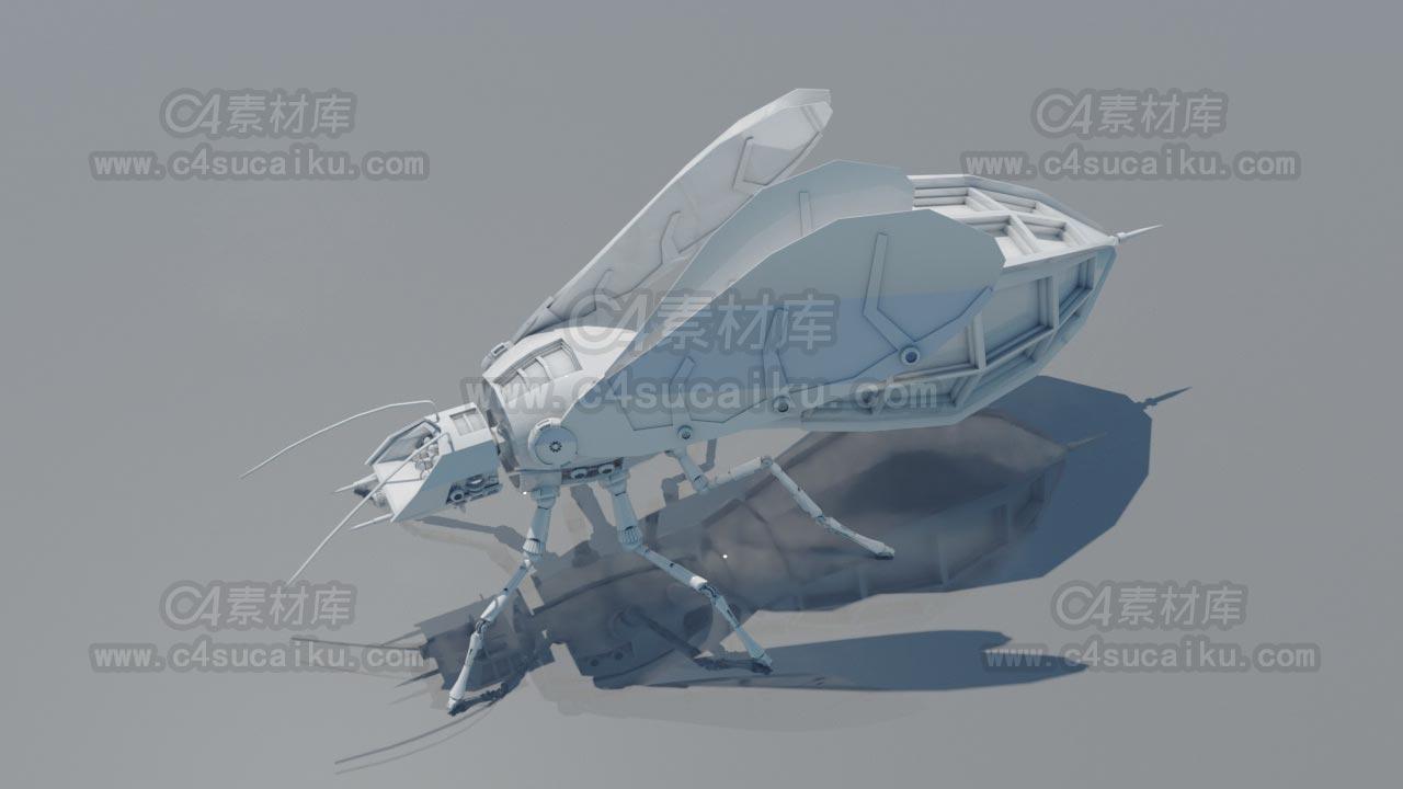 科幻机械飞虫
