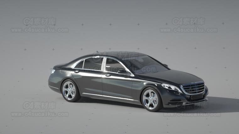 商务奔驰汽车轿车模型-2