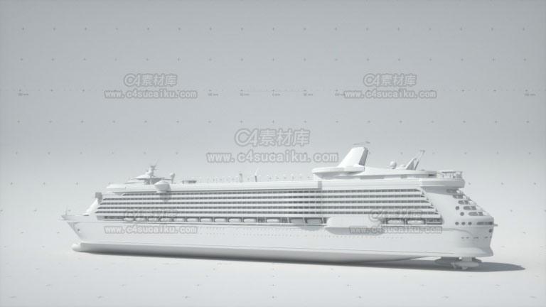 轮船游轮模型-1