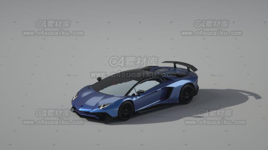 兰博基尼汽车车漆模型1