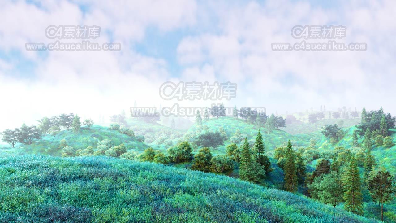 【二更小分队】octane 日式小清新植物工程