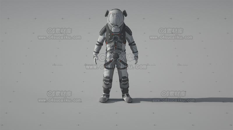 太空宇航员漫游者模型