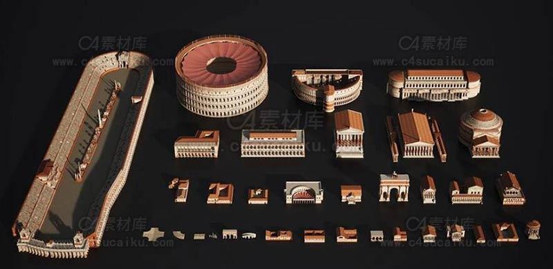 罗马帝国著名建筑3D模型