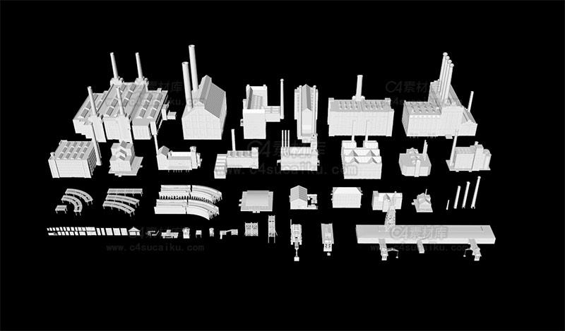 港口码头工厂工业三维模型场景