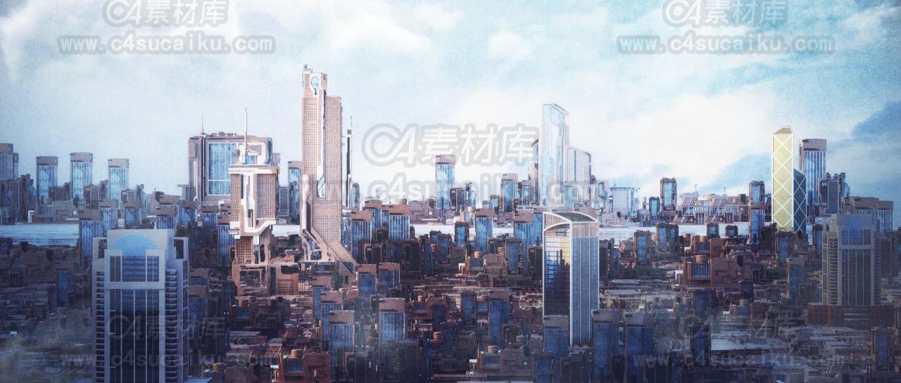 【二更小分队】octane 精品写实城市工程文件
