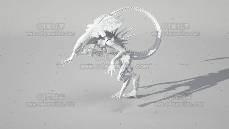 C4素材库-异型外星巨兽模型