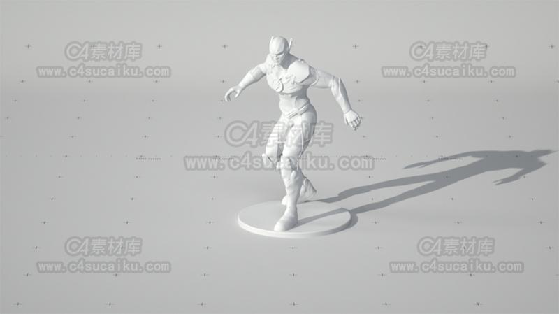 C4素材库-闪电侠模型
