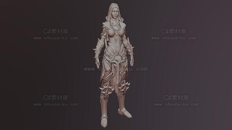 C4素材库-游戏女性角色-1