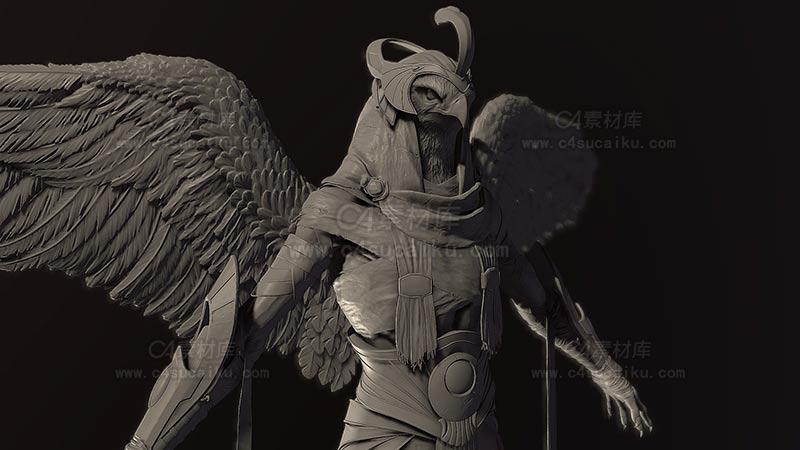 C4素材库-老鹰战神盔甲模型