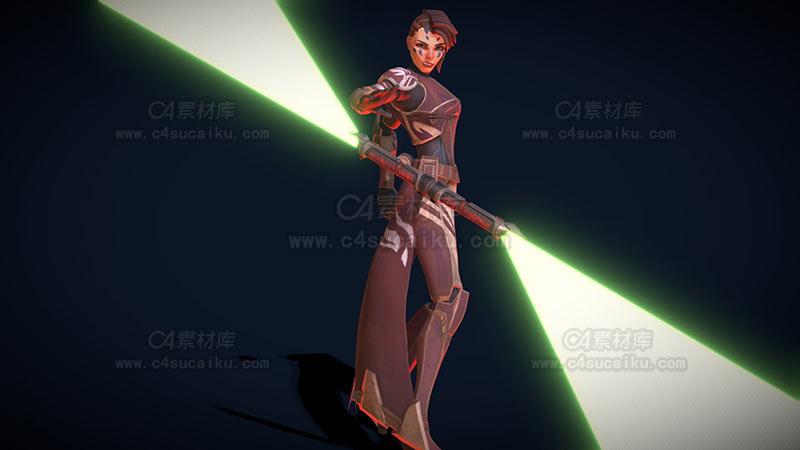 C4素材库-科幻女性角色-2