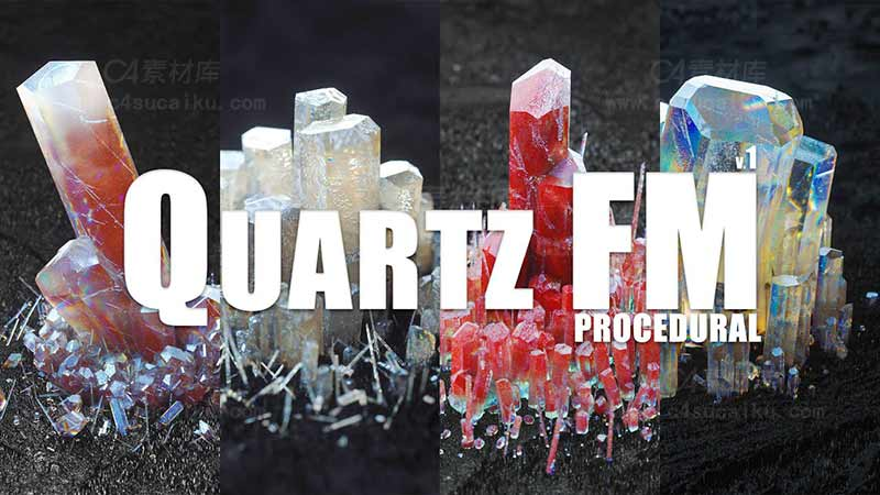 C4素材库-程序化New Quartz FM CD4水晶预设