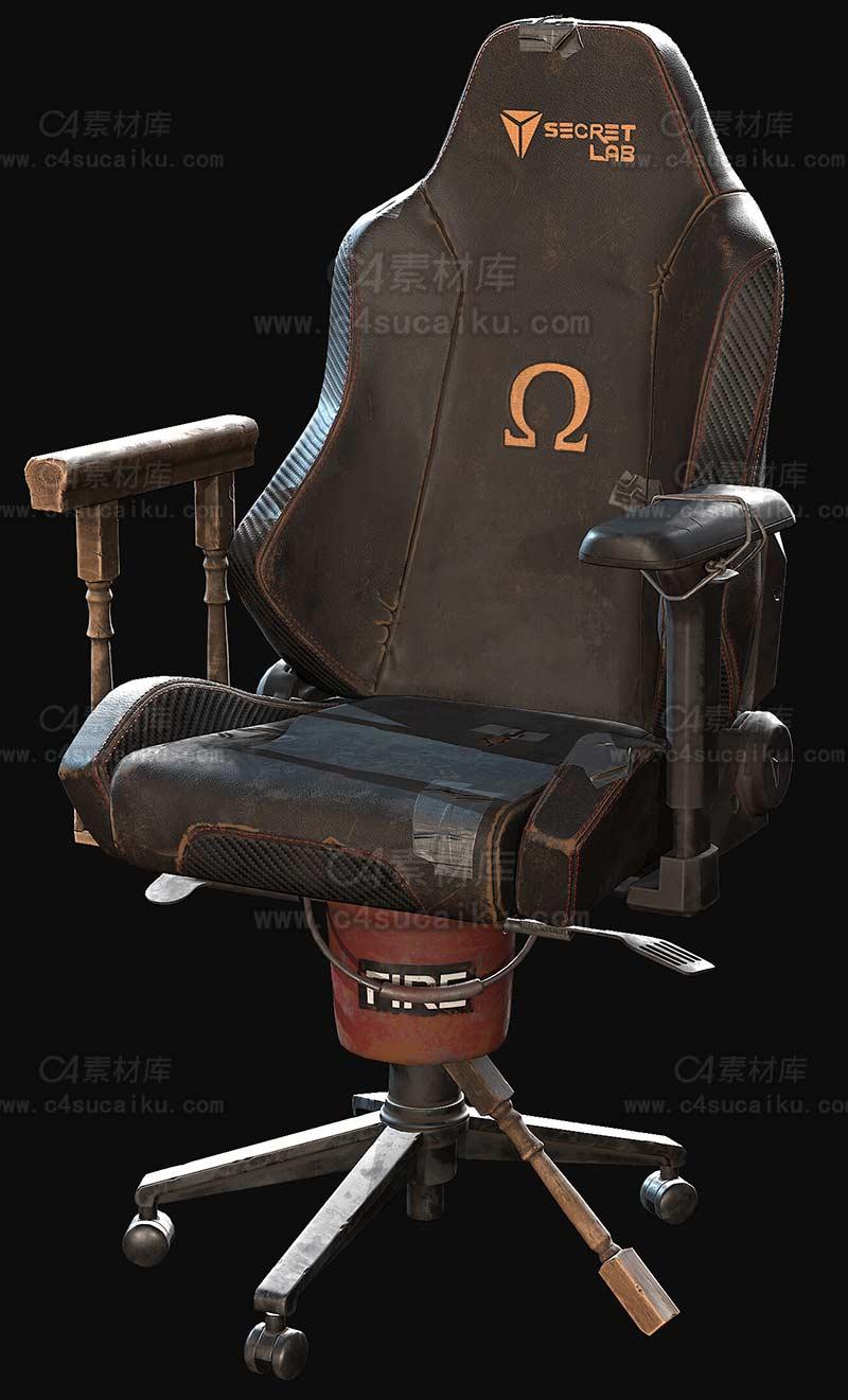 C4素材库-电竞椅子模型