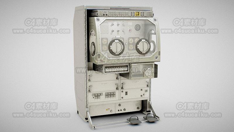 C4素材库-老式实验室机械设备