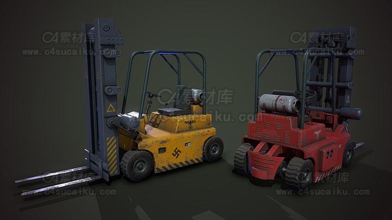 C4素材库-叉车模型