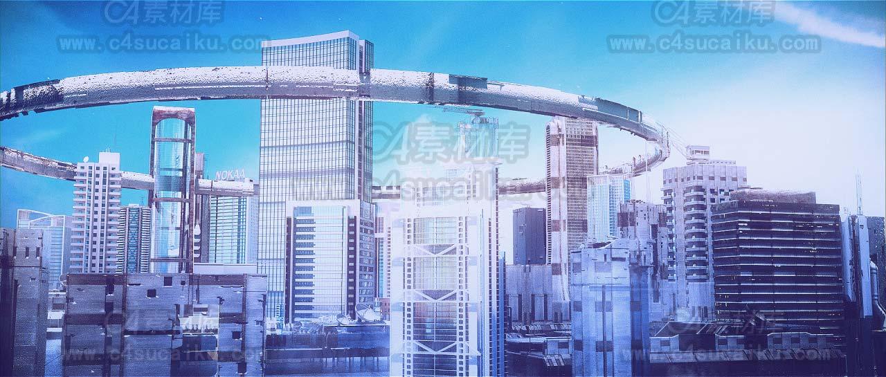 【二更小分队】octane 精品写实城市工程文件2