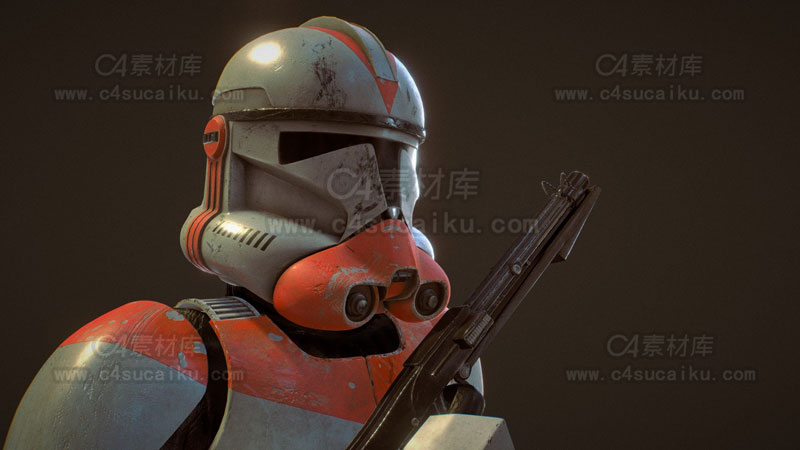 C4素材库-绝地武士拿枪模型-2