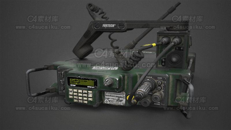 C4素材库-军用电话卫星电话模型