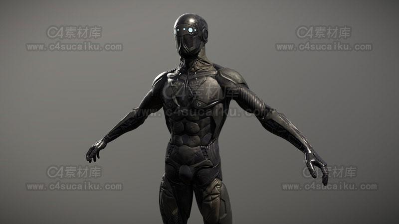 C4素材库-科幻绝地武士模型-2
