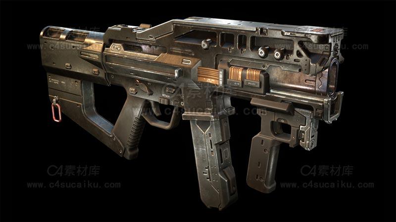 C4素材库-冲锋枪模型