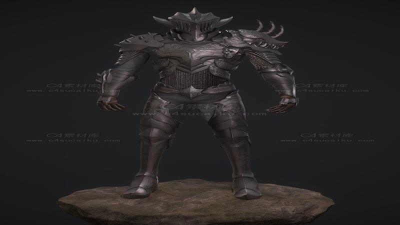 C4素材库-盔甲人物模型03