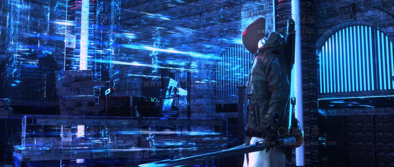 二更小分队-机械科幻风格人物C4D工程byRealTimeJ