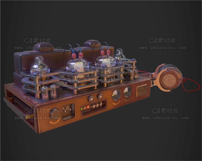 C4素材库-监听器C4D模型