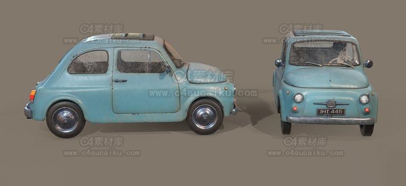C4素材库-小轿车C4D模型