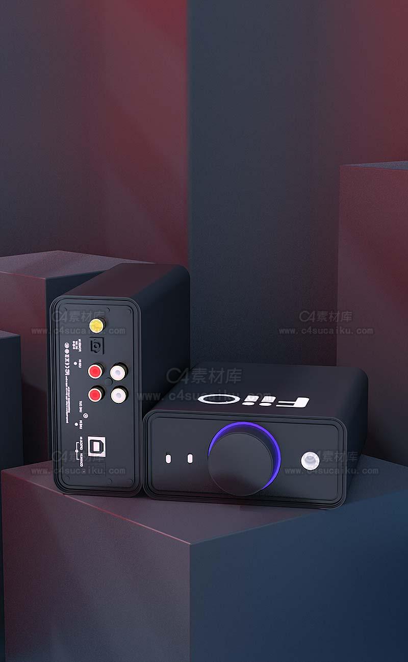 C4素材库-音响产品-C4D工程byBestow