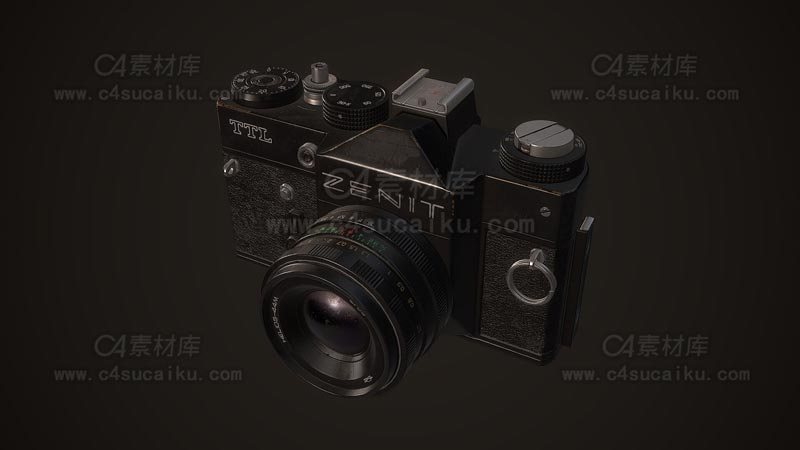 C4素材库-单反相机C4D模型