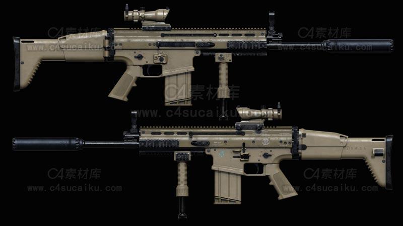 C4素材库-步枪C4D模型