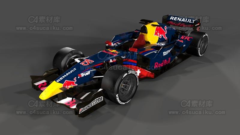 C4素材库-F1赛车C4D模型
