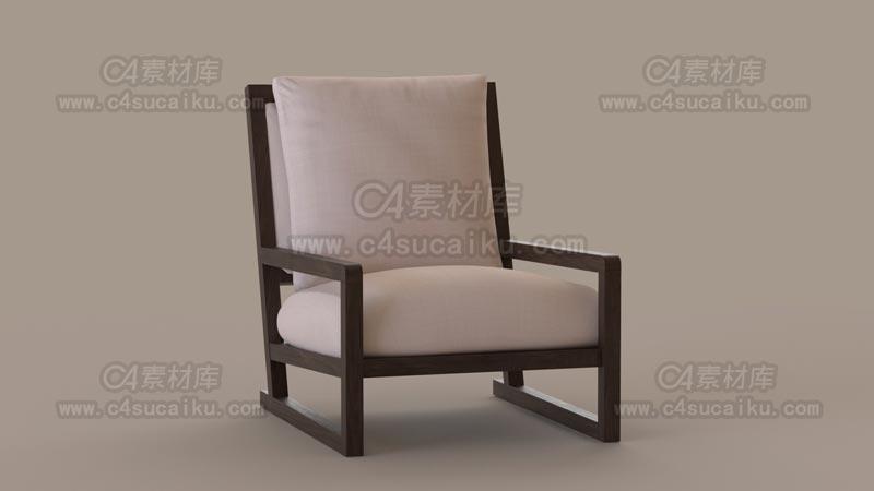 C4素材库-椅子C4D模型-03
