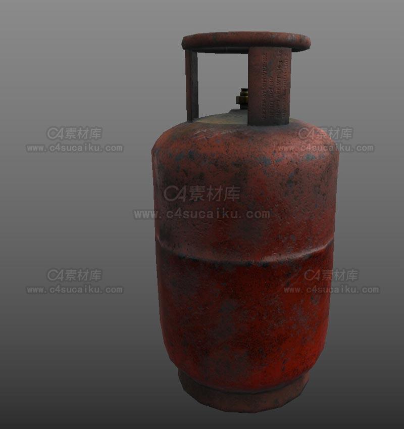 C4素材库-煤气罐C4D模型