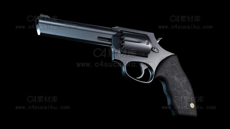 C4素材库-左轮手枪C4D模型