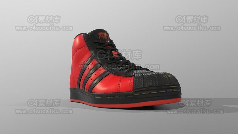 C4素材库-皮靴鞋子C4D模型