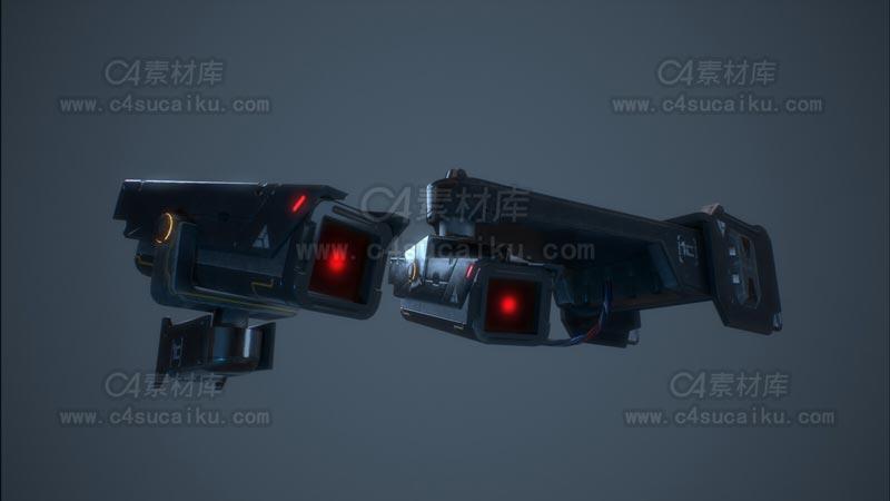 C4素材库-摄像头C4D模型