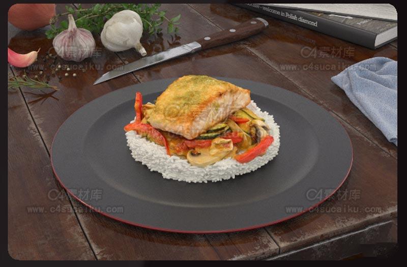 C4素材库-食物C4D模型10