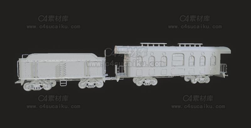C4素材库-火车皮C4D模型