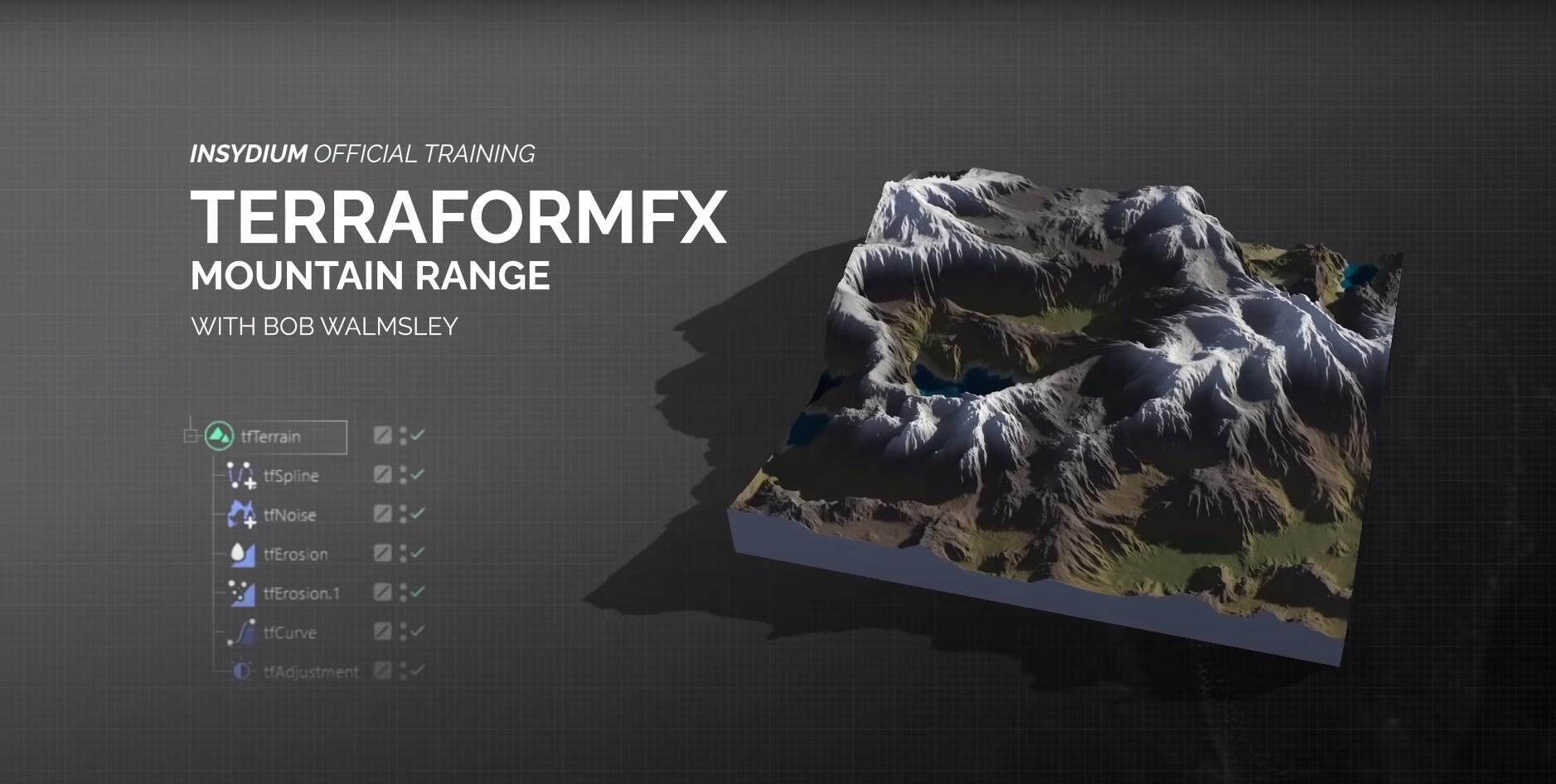 C4素材网-C4D教程-官方TerraformFX地形制作教程