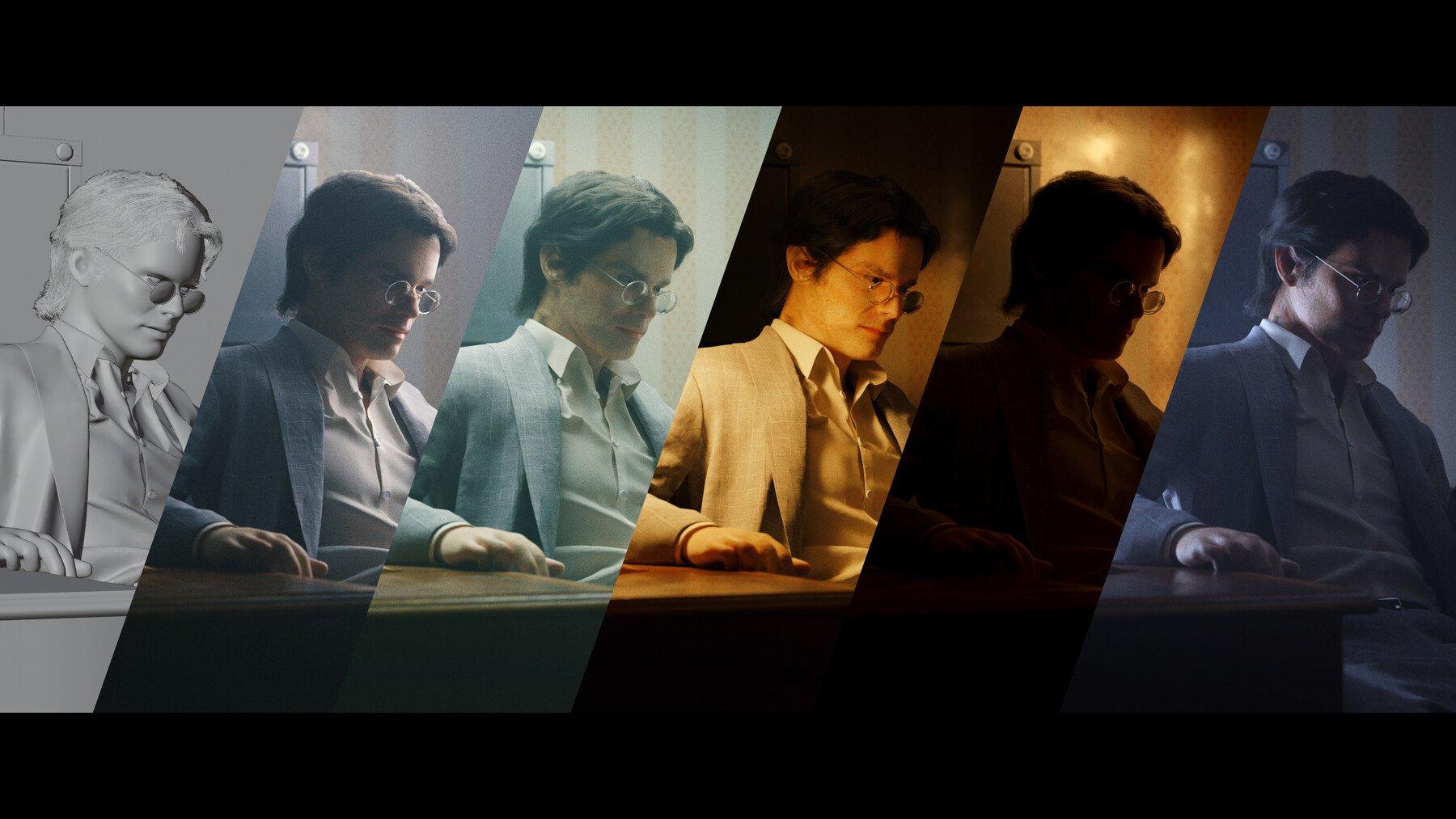 C4素材网-Blender工程/教程-办公室人物照明场景