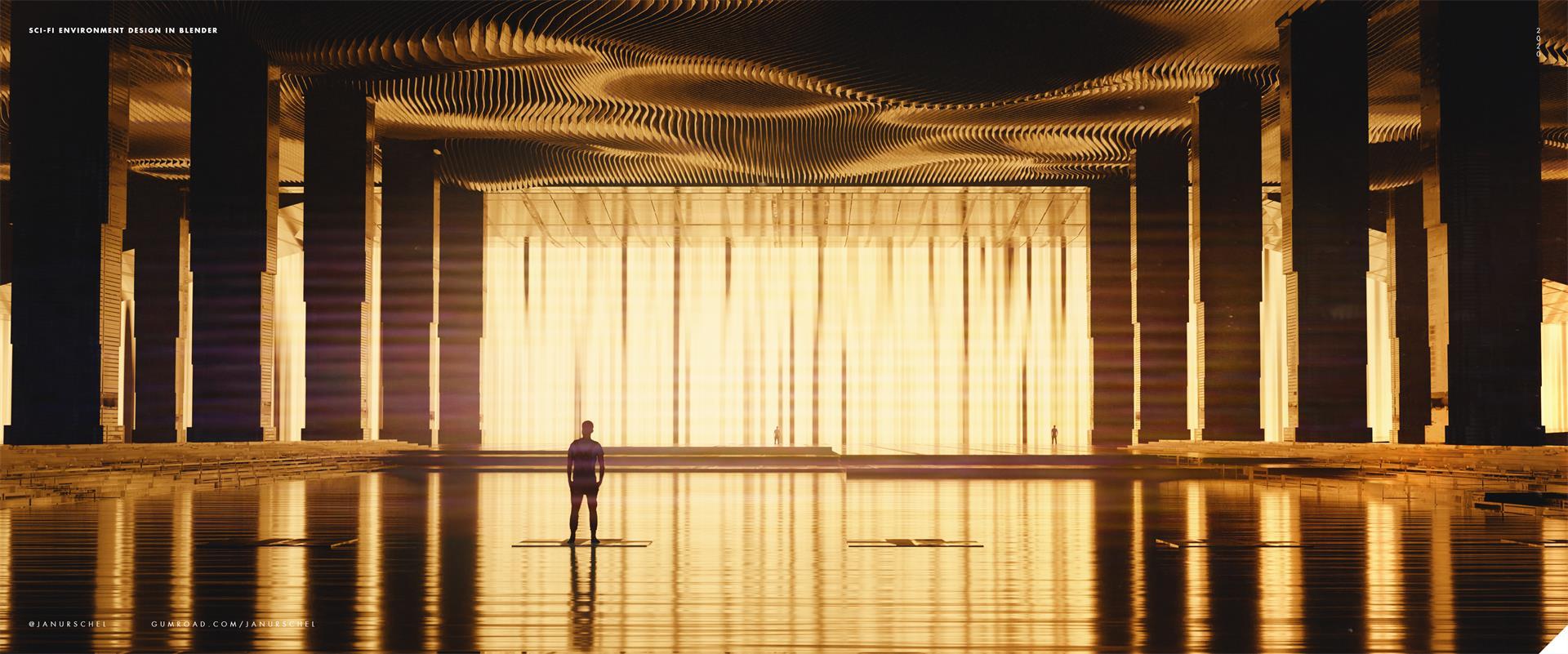 C4素材网-Blender工程-建筑科幻场景