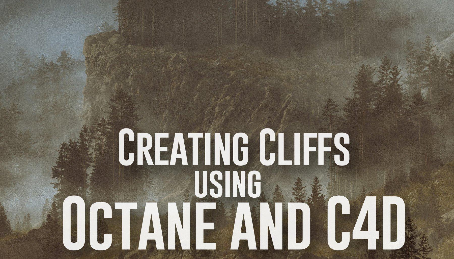 C4素材网-C4D教程-悬崖场景创作