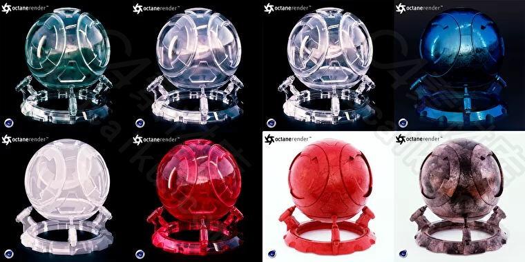 C4素材网-Octane材质球-22组可拼贴OC材质