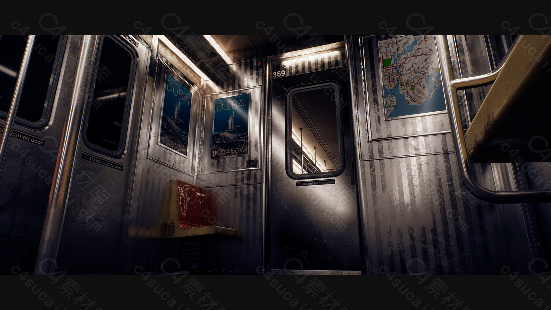 C4素材网-UE5教程-地铁车厢内部创建教程(中英双语机翻字幕)-含项目文件