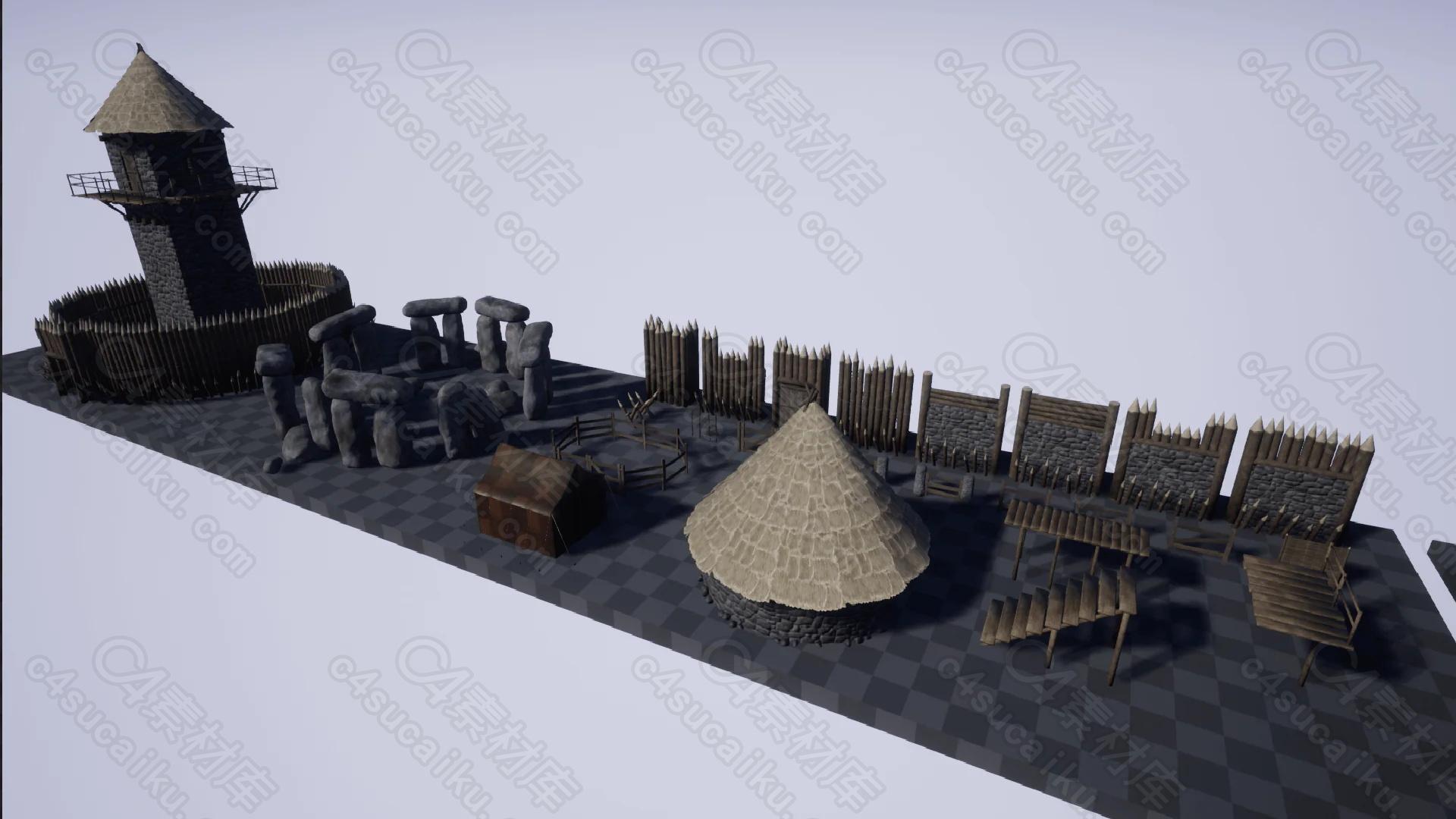 C4素材网-UE4资产-罗马中世纪资产包