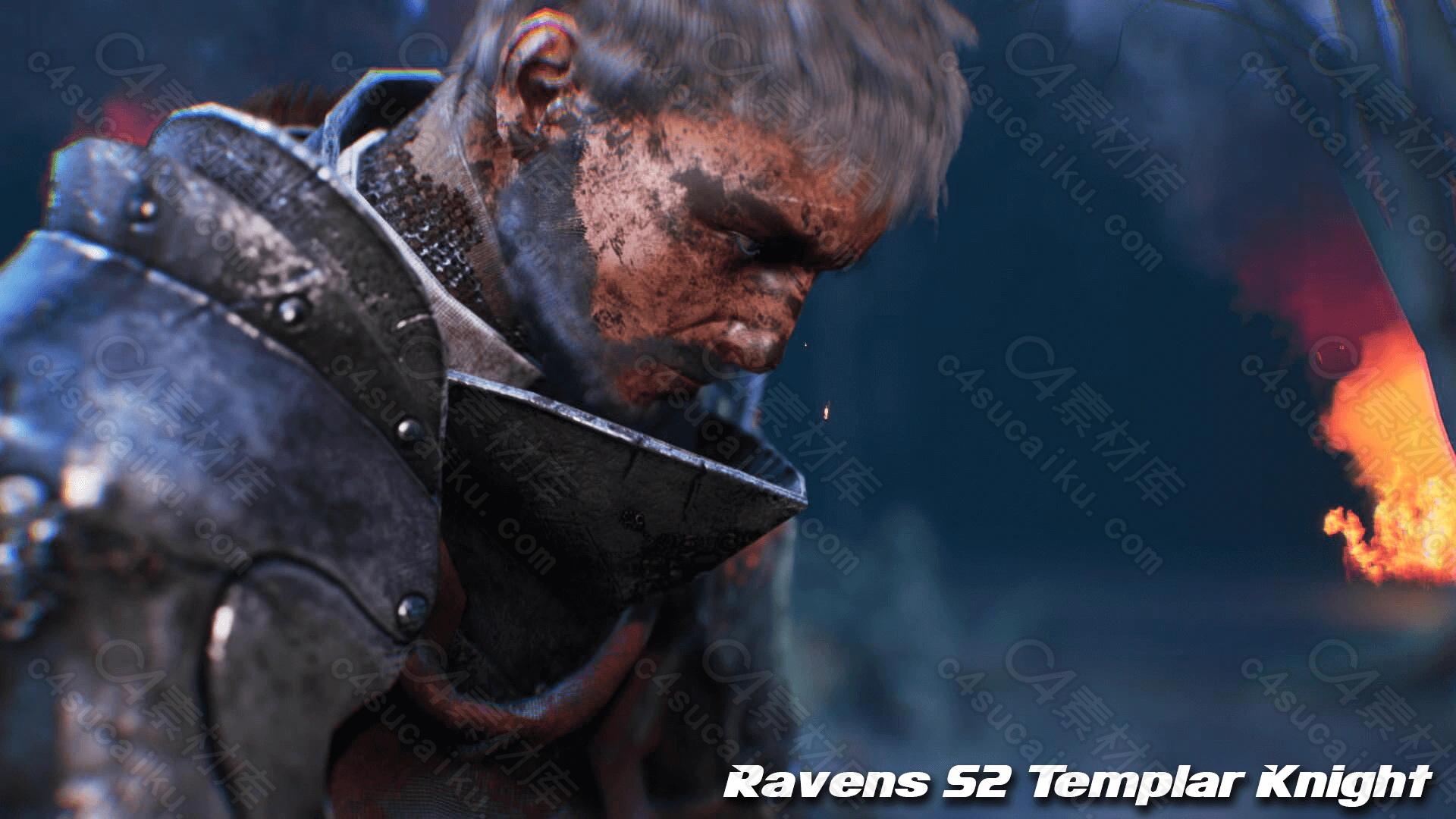 C4素材网-UE4资产-男性圣殿骑士角色